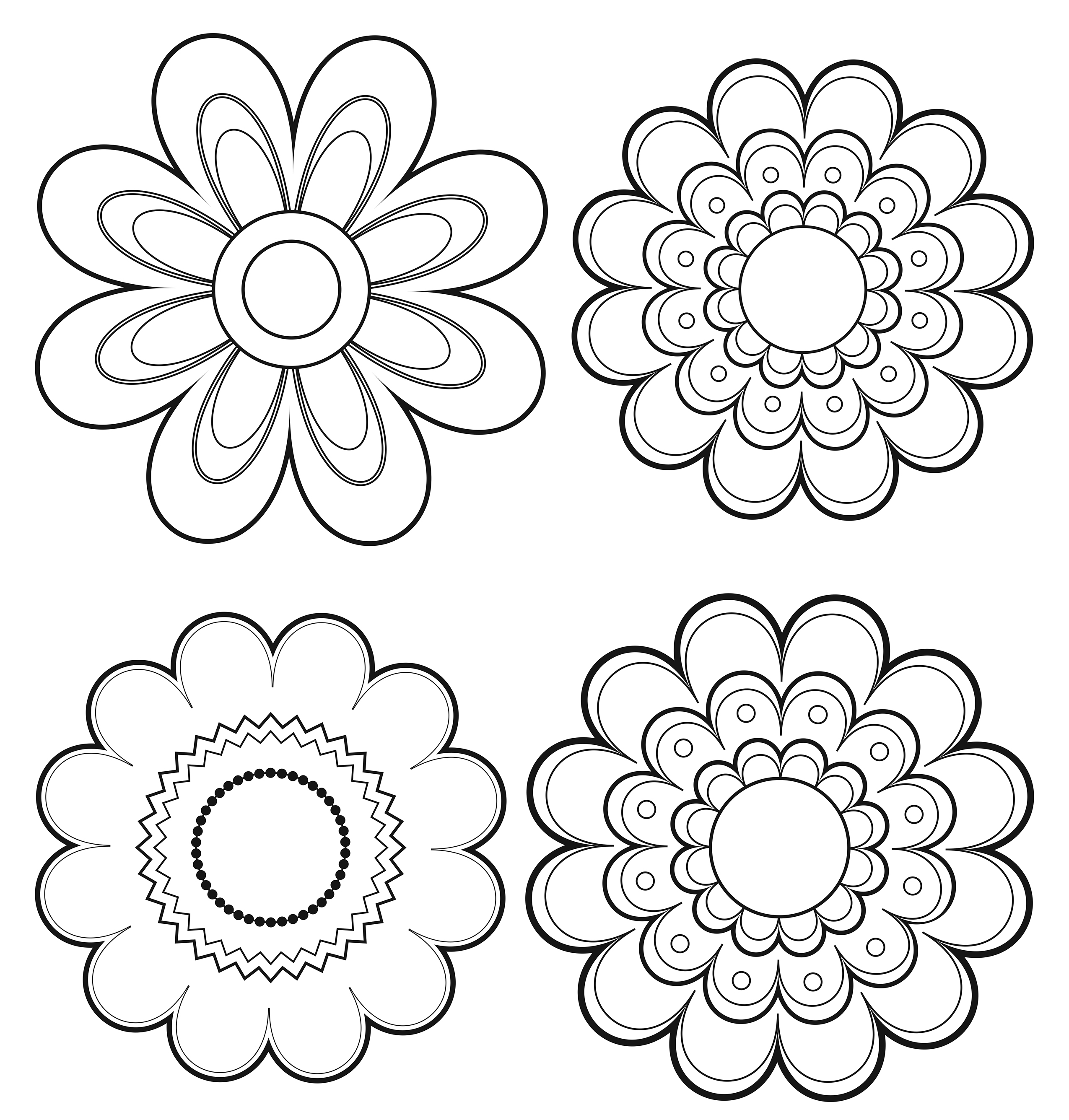 mexican flowers coloring pages - photo#5