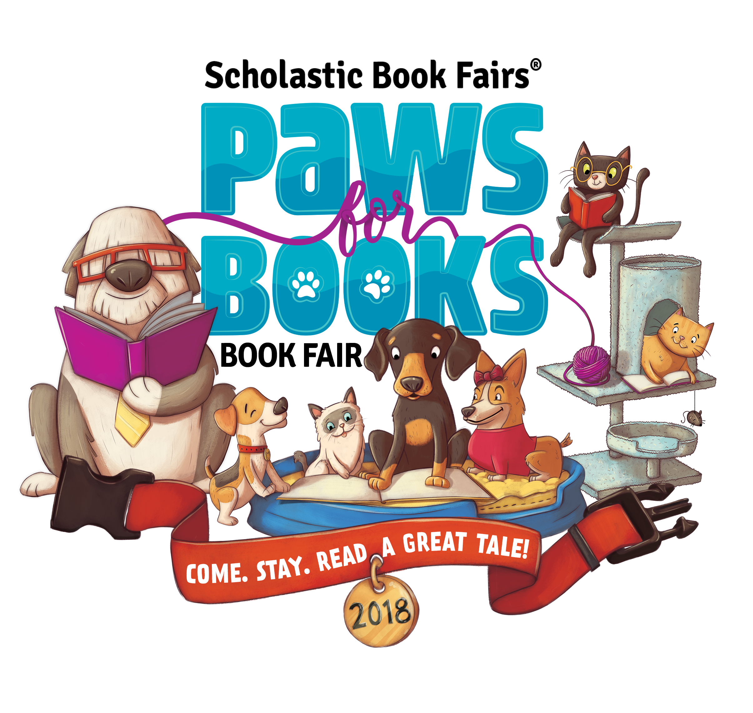 Scholastic canada book fairs webart paws for books logo publicscrutiny Image collections