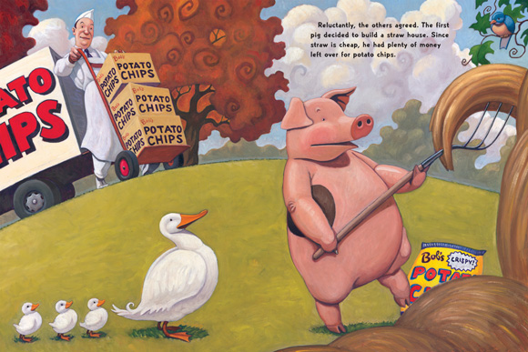 Scholastic Canada  The Three Little Pigs and the Somewhat Bad Wolf