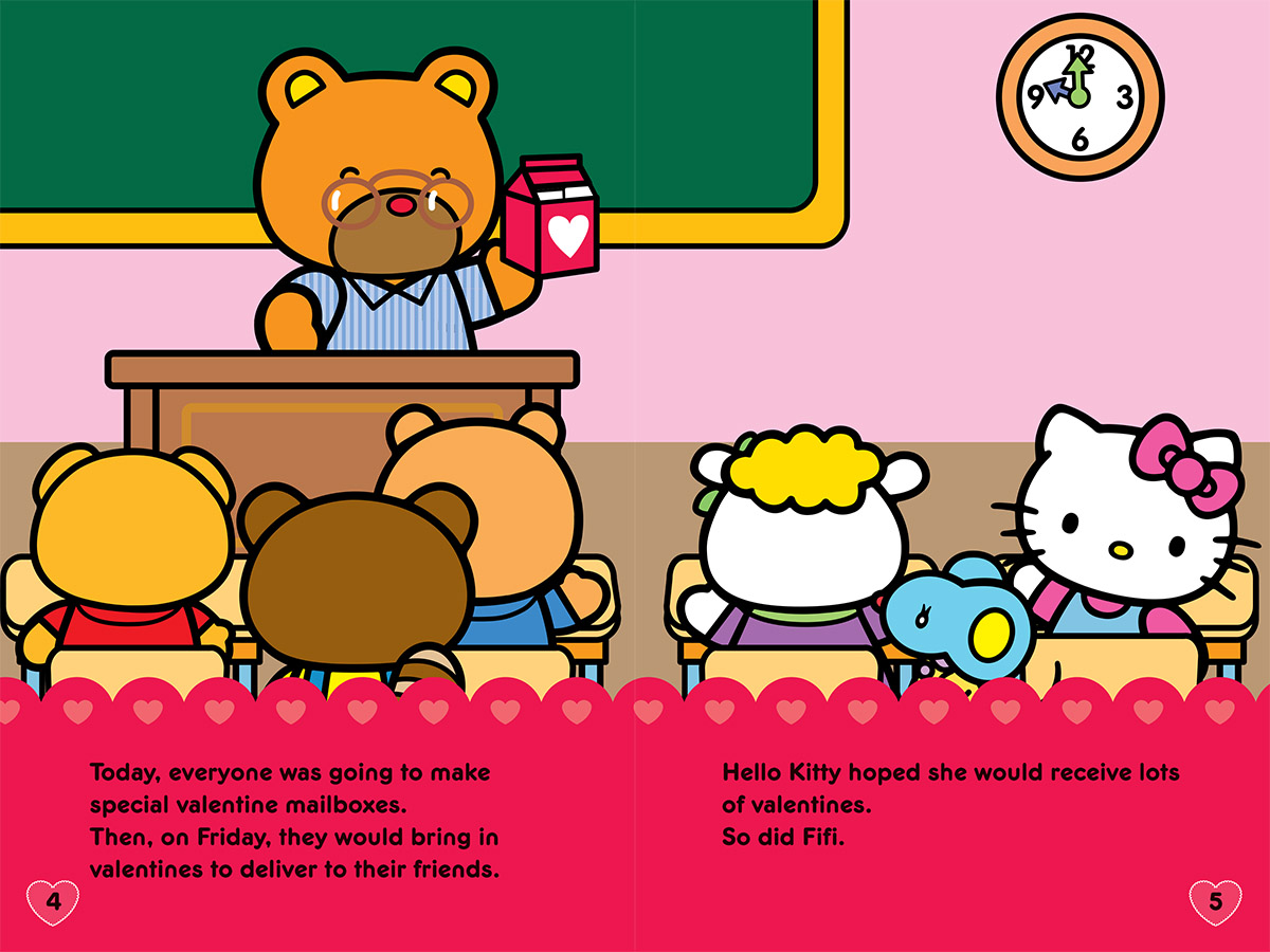 From Happy Valentineu0027s Day (Hello Kitty). Text Copyright © 2016 Elizabeth  Bennett. Illustrations Copyright © 2016 Sachiho Hino. All Rights Reserved.