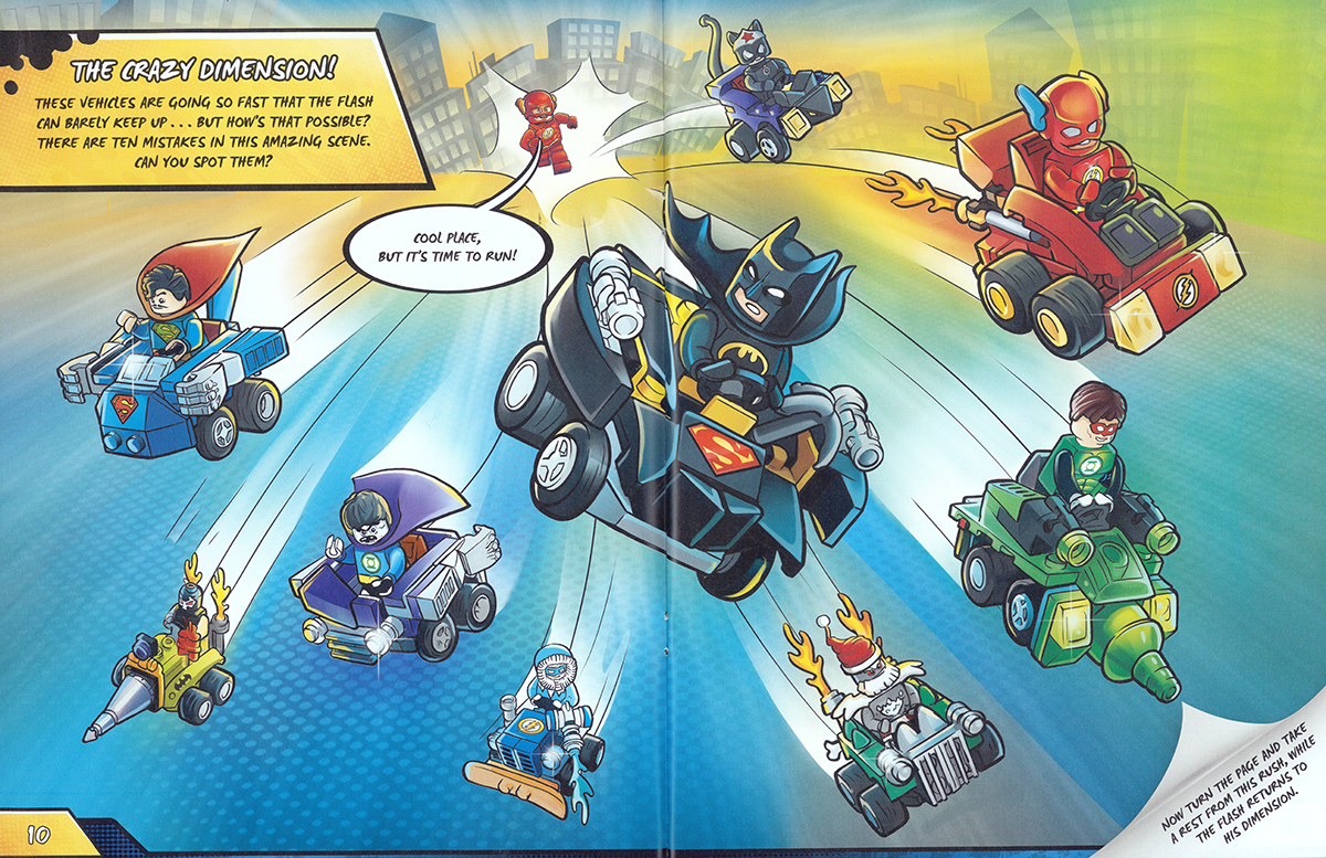 Scholastic Canada Lego Dc Activity Book With Minifigure 3 Faster