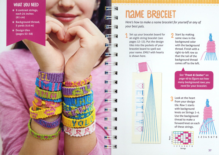 friendship bracelet with name images Scholastic canada klutz jpg