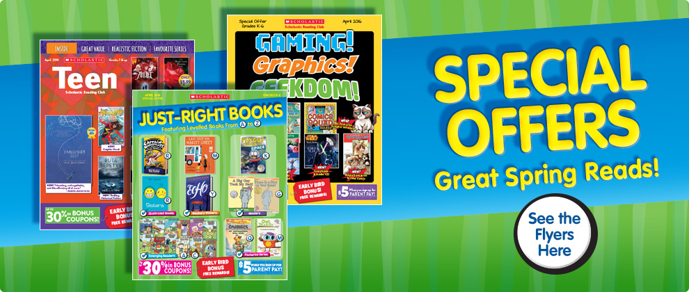 Special Offers! Great Spring Reads!