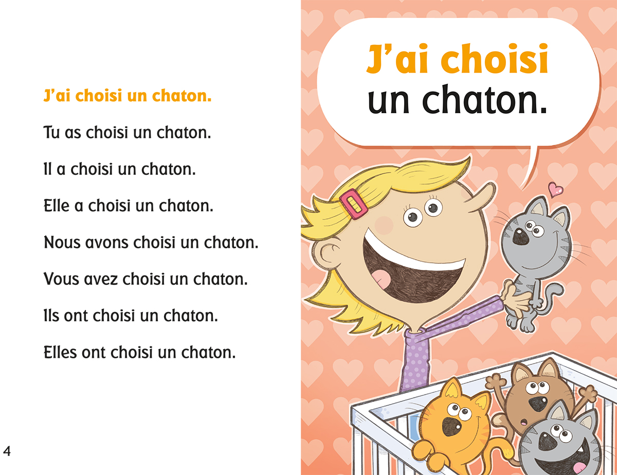 Editions Scholastic Nous Conjuguons Le Verbe Choisir Au Passe Compose