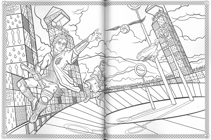 Coloriage Magique Harry Potter.Editions Scholastic Harry Potter Le Livre De Coloriage