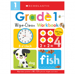 Scholastic Early Learners: Wipe Clean Workbooks - Grade 1