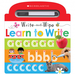 Scholastic Early Learners: Write and Wipe Learn To Write
