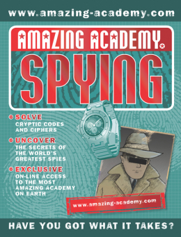 Amazing Academy: Spying