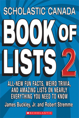 Scholastic Canada Book of Lists 2