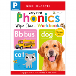 Scholastic Early Learners Wipe Clean Workbooks: My Very First Phonics