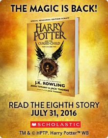 THE EIGHTH HARRY POTTER STORY.  NINETEEN YEARS LATER. READ IT ON JULY 31ST!